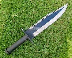 Damascus Knife, Damascus Steel, Damascus Blade, Rambo Knife, Knife Aesthetic, Engraved Knife, Hand Forged Knife, D2 Steel, Knife Sheath