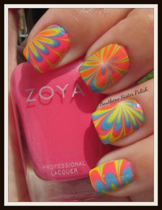 I will do this someday! I WILL!! -- Southern Sister Polish: Water Marbling with Zoya Stunning Collection