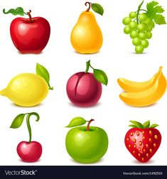 House Drawing For Kids, Photo Fruit, Fruit Icons, Fruits Images, Apple Fruit, Free Preschool, Infant Activities, Free Illustrations, Fruits And Veggies