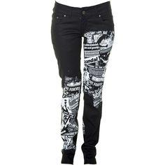 Jist Scandalous Women's Stretch Skinny Jeans (Black) ($50) ❤ liked on Polyvore