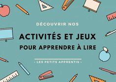 apprentissage lecture Montessori - amenez progressivement votre enfant vers la lecture : http://www.unjourunjeu.fr/lespetitsapprentis/