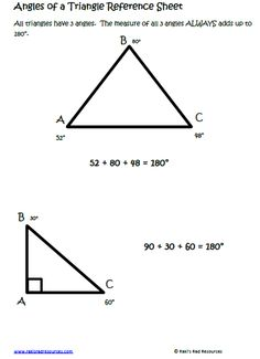 $1.00 - Angles of a Triangle Lesson for your Interactive Math Notebooks