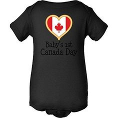 Inktastic Baby's 1st Canada Day Infant Creeper 6 Months Black