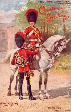 British;2nd Dragoons(Royal Scots Greys), trumpeters, Review Order. By Harry Payne