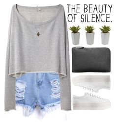 """""""The Beauty of Silence"""" by mihreta-m ❤ liked on Polyvore featuring R13, Jeffrey Campbell, Nearly Natural and Vanessa Mooney"""