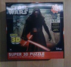 "New SEALED Box Star Wars Super 3D Puzzle 150 Pcs Cardinal Ind 3 12""X18"" 