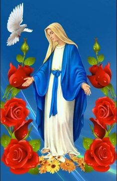 My Lady Beautiful Blessed Mother Mary, Blessed Virgin Mary, Mama Mary Photo, Virgin Mary Art, Hail Holy Queen, Religious Photos, Pictures Of Jesus Christ, Christian Pictures, Jesus Painting