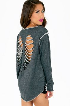 Cut My Heart Out Sweater $37 at www.tobi.com <3 Love this