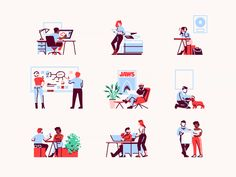 Tiny Illustrations designed by Julian Burford for Slab. Connect with them on Dribbble; Flat Illustration, Character Illustration, Digital Illustration, Drawing Sketches, Drawings, People Figures, Website Design Inspiration, Show And Tell, Colour Images