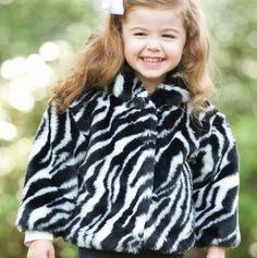 Zebra Print Toddler Coat.