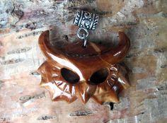 Wooden owl head pendant by JOVictory.deviantart.com on @DeviantArt