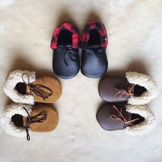 Leather Baby Moccasin Slippers Baby by WanderingSolesMoccs on Etsy