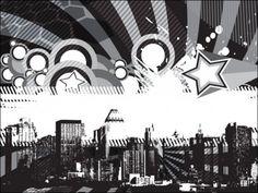 funky cityscape