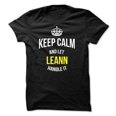 Keep Calm and Let LEANN Handle It - #tshirt painting #sweatshirt street. LIMITED AVAILABILITY => https://www.sunfrog.com/Names/Keep-Calm-and-Let-LEANN-Handle-It-54676997-Guys.html?68278