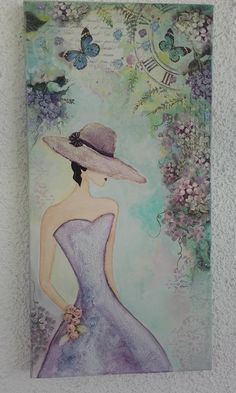 Lady on canvas!