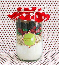Christmas Cookie Mix Jar