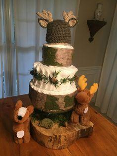 Woodland Diaper Cake