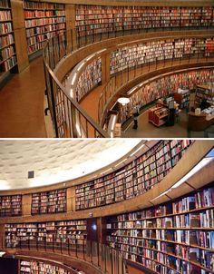 + Stockholm city library, Sweden +