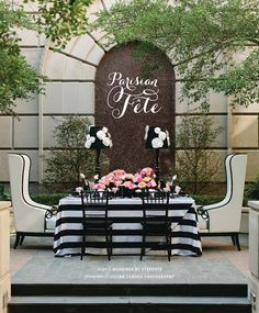 Parisian Fete Table Design from Weddings by Stardust