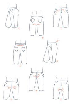 Le journal d'Artesane - Modifier la fourche d'un pantalon
