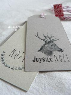 Etiquettes de Noel à télécharger (http://aufilrouge.canalblog.com/ 21 dec 2013)                                                                                                                                                                                 Plus
