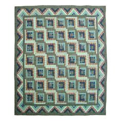 Green Log Cabin Quilt