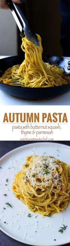 Butternut Squash and Thyme Pasta!