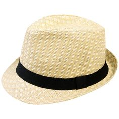 Simplicity Summer Sun Short Brim Straw Fedora Hat ($7.99) ❤ liked on Polyvore featuring accessories, hats, summer fedora, brimmed hat, straw fedora, summer hats and straw hat