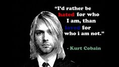 Kurt quote Great Quotes, Quotes To Live By, Funny Quotes, Awesome Quotes, Life Quotes, Kirk Cobain, Kurt Cobain Quotes, Understanding Depression, Bob Marley Quotes