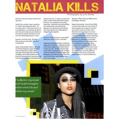 Ouch! Editorial Natalia Kills, Spring 2011 Shot #1 - MyFDB ❤ liked on Polyvore featuring editorials and natalia kills