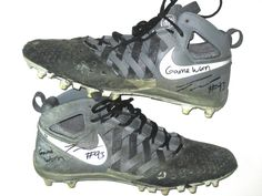 7ca3106a53 Trent Murphy Washington Redskins Game Used & Signed Gray & Black Nike  Cleats - Great Use