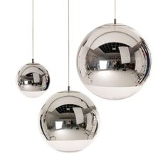 HAUS - Mirror Ball pendant by Tom Dixon