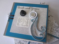 Quilling wedding cards.