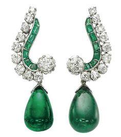 Emerald and Diamond Earrings Bulgari Christie's
