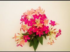 How To Make Combretum Indicum Flower From Crepe Paper - Craft Tutorial - YouTube