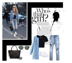 """""""Gigi Hadid"""" by gabby-kezia on Polyvore featuring Dr. Denim, Kate Spade, NIKE and Ray-Ban"""
