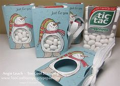 Snow Much Fun Tic Tac Holder...could be anything white too. york minis..etc