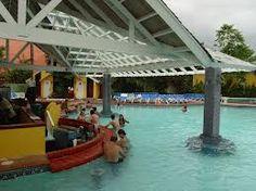 Swim up bar at Sandals Negril, Jamaica