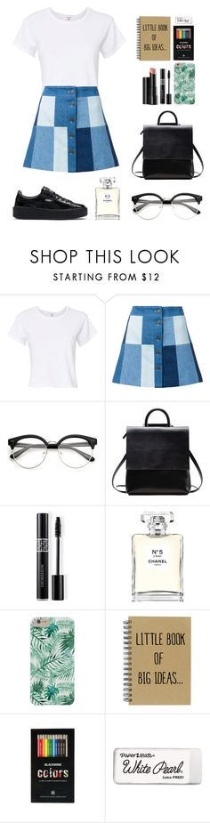 """Untitled #723"" by dolrebeca ❤ liked on Polyvore featuring RE/DONE, Ines de la Fressange, Arbonne, Christian Dior, Chanel and Paper Mate"