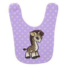 Clay Set, Baby Bibs, Giraffe, Lunch Box, Purple, Color, Design, Bibs, Felt Giraffe