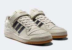 sale retailer e6320 ca8f1 adidas Forum Low White Navy The Originals, Adidas Originals, Retro Shoes,  Dope Fashion