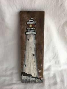 Your place to buy and sell all things handmade- Excited to share the latest addition to my shop: Rustic Lighthouse Oil Painting Wood Pallet Art, Pallet Painting, Painting On Wood, Painting Abstract, Nautical Wall Art, Vintage Nautical, Driftwood Crafts, Wooden Crafts, Nautique Vintage