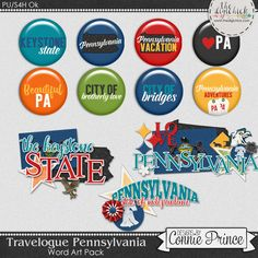 Travelogue Pennsylvania - Word Art & Flair Pack