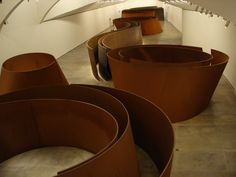 Richard Serra  same artist that made the sculpture outside of the Fort Worth Modern in Fort Worth TEXAS