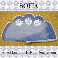 The Sofia part of The Princess and Fairy Collection at Hand Fans by Kate Dengra www.handfansbykatedengra.com Hand Fans by Kate Dengra - A Trend is Unfolding
