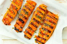 Hot Shot Grilled Salmon Recipe I Get things up a notch with salmon covered in a Sriracha glaze I Delish Grilled Salmon Recipes, Pork Rib Recipes, Easy Salmon Recipes, Grilled Seafood, Orange Recipes, Grilled Meat, Fish And Seafood, Grilling Recipes, Fish Recipes