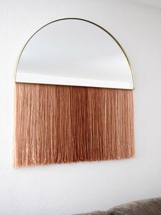 DIY Mirror Fringe Wa