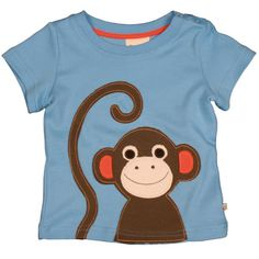 Monkey Applique T Shirt