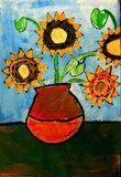 Artsonia Art Exhibit :: Van Gogh Sunflowers