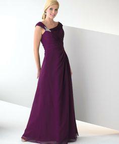 Chiffon A-line Asymmetrical Neckline Ruched Bodice Formal Long Dress